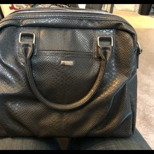 Couture Street Handbag in City Charcoal Snake New